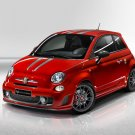 "Fiat 695 Abarth Tributo Ferrari Car Poster Print on 10 mil Archival Satin Paper 16"" x 12"""