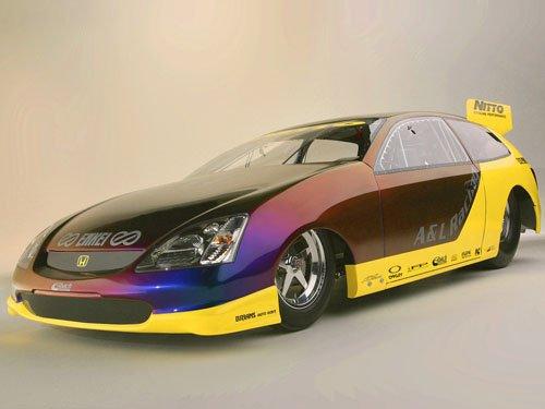 "Honda Pro Drag Civic Si Car Poster Print on 10 mil Archival Satin Paper 16"" x 12"""