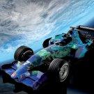 "Honda F1 RA107 Racing Car Poster Print on 10 mil Archival Satin Paper 16"" x 12"""