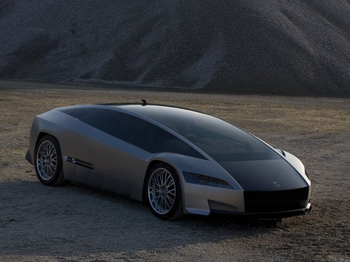 "Italdesign Giugiaro Quaranta Car Poster Print on 10 mil Archival Satin Paper 16"" x 12"""