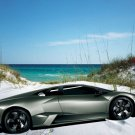 "Lamborghini Reventon Beach Car Poster Print on 10 mil Archival Satin Paper 16"" x 12"""