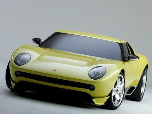"Lamborghini Miura Concept Car Poster Print on 10 mil Archival Satin Paper 16"" x 12"""