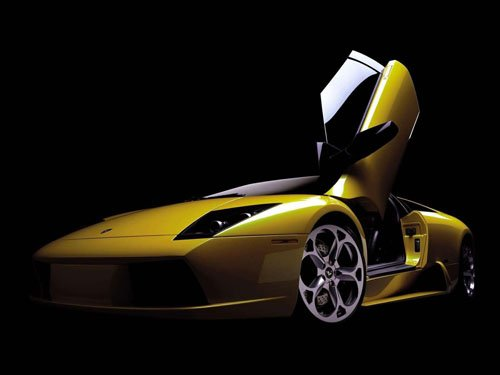 "Lamborghini Murcielago Barchetta Car Poster Print on 10 mil Archival Satin Paper 16"" x 12"""