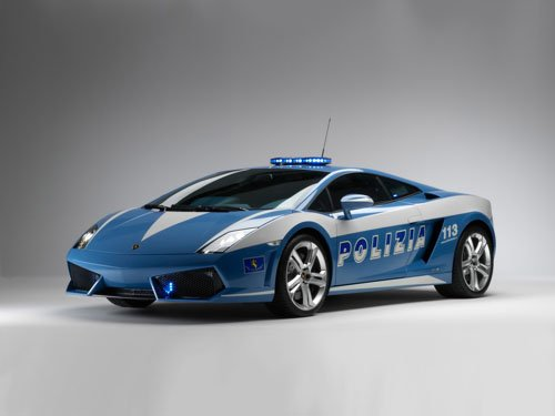 "Lamborghini Gallardo LP560-4 Polizia Car Poster Print on 10 mil Archival Satin Paper 16"" x 12"""