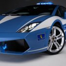 "Lamborghini Gallardo LP560-4 Polizia Car Poster Print on 10 mil Archival Satin Paper 20"" x 15"""