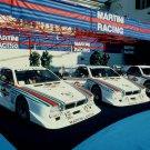 "Lancia MontecarloTurbo Gruppo 5 Car Poster Print on 10 mil Archival Satin Paper 16"" x 12"""