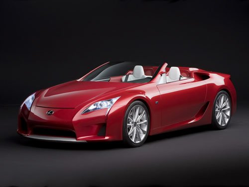 "Lexus LF-A Roadster Concept Car Poster Print on 10 mil Archival Satin Paper 16"" x 12"""