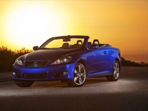 "Lexus IS Convertible Car Poster Print on 10 mil Archival Satin Paper 16"" x 12"""