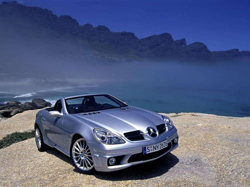 "Mercedes-Benz SLK55 AMG Car Poster Print on 10 mil Archival Satin Paper 16"" x 12"""