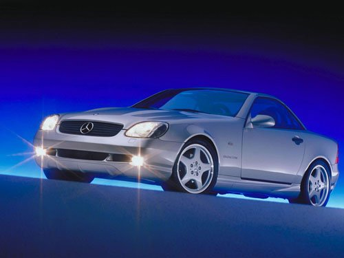 "Mercedes-Benz SLK Roadster Car Poster Print on 10 mil Archival Satin Paper 16"" x 12"""