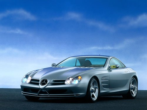 "Mercedes-Benz Vision SLR Concept Car Poster Print on 10 mil Archival Satin Paper 16"" x 12"""