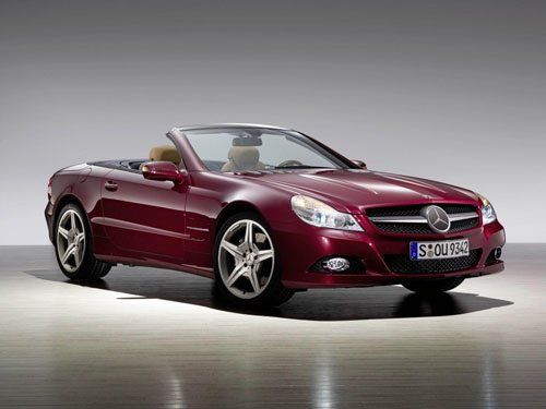 "Mercedes-Benz SL 600 Roadster Car Poster Print on 10 mil Archival Satin Paper 16"" x 12"""