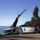 "Mercedes-Benz SLS AMG Gullwing (2011) Car Poster Print on 10 mil Archival Satin Paper 16"" x 12"""