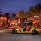"Mercedes Benz SLS AMG Desert Gold 2010 Car Poster Print on 10 mil Archival Satin Paper 16"" x 12"""
