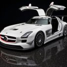 "Mercedes-Benz SLS AMG GT3 Car Poster Print on 10 mil Archival Satin Paper 16"" x 12"""