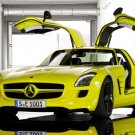 "Mercedes-Benz SLS AMG E-Cell Concept Car Poster Print on 10 mil Archival Satin Paper 16"" x 12"""