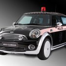 "Mini Cooper ClubMan Life Ball Police Car Poster Print on 10 mil Archival Satin Paper 16"" x 12"""
