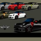 "Airborne Mini Coupes Concept Car Poster Print on 10 mil Archival Satin Paper 16"" x 12"""
