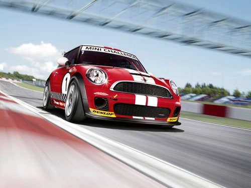 "Mini Cooper Challenge John Cooper Works Car Poster Print on 10 mil Archival Satin Paper 16"" x 12"""