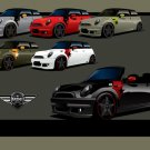 "Airborne Mini Coupes Concept Car Poster Print on 10 mil Archival Satin Paper 20"" x 15"""