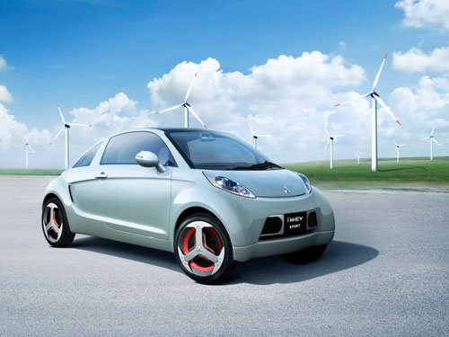 "Mitsubishi-i MIEV Sport Concept Car Poster Print on 10 mil Archival Satin Paper 16"" x 12"""