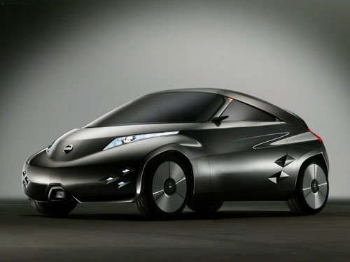 "Nissan Mixim Concept Car Poster Print on 10 mil Archival Satin Paper 16"" X 12"""