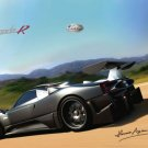 "Pagani Zonda R 2009 Car Poster Print on 10 mil Archival Satin Paper 16"" x 12"""