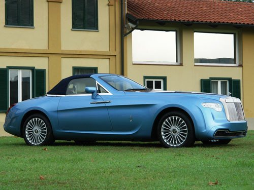 "Pininfarina Rolls-Royce Hyperion Top Up Car Poster Print on 10 mil Archival Satin Paper 16"" x 12"""