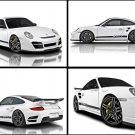 "Vorsteiner Porsche 911 Turbo V-RT Montage Car Poster Print on 10 mil Archival Satin Paper 16"" x 12"""