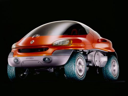 "Renault Raccoon Concept Car Poster Print on 10 mil Archival Satin Paper 16"" x 12"""