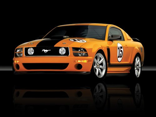 "Saleen Ford Mustang 302 Parnelli Jones Car Poster Print on 10 mil Archival Satin Paper 16"" x 12"""