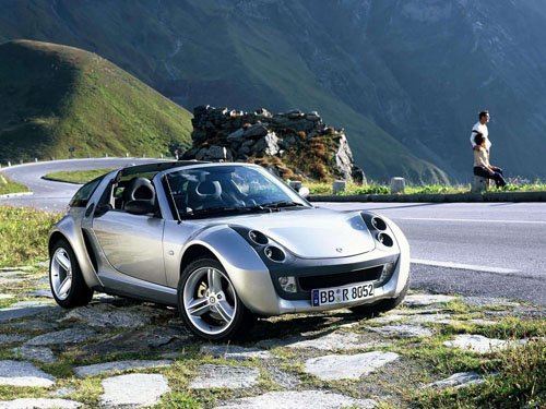 "Smart Roadster Coupe Concept Car Poster Print on 10 mil Archival Satin Paper 16"" x 12"""