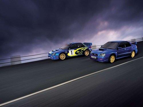 "Subaru Impreza WRX STi Car Poster Print on 10 mil Archival Satin Paper 16"" x 12"""