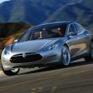 "Tesla Model S Concept Car Poster Print on 10 mil Archival Satin Paper 16"" x 12"""