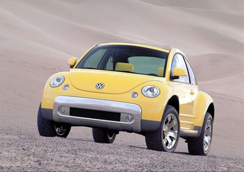 "Volkswagen New Beetle Dune Concept Car Poster Print on 10 mil Archival Satin Paper 16"" x 12"""