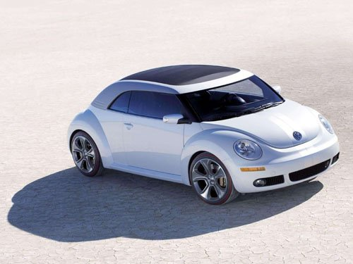 "Volkswagen New Beetle Ragster Concept Car Poster Print on 10 mil Archival Satin Paper 16"" x 12"""