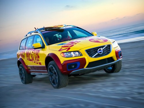 "Volvo XC70 Catalina Isle Surf Rescue Unit Car Poster Print on 10 mil Archival Satin Paper 16"" x 12"""
