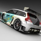 "Volvo C30 Racer from Vizualtech Design Car Poster Print on 10 mil Archival Satin Paper 16"" x 12"""