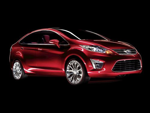 "Ford Verve Sedan Concept Car Poster Print on 10 mil Archival Satin Paper 16"" x 12"""""