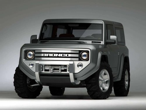 "Ford Bronco Concept Car Poster Print on 10 mil Archival Satin Paper 16"" x 12"""""