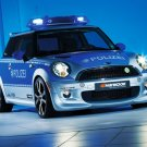 "AC Schnitzer Police MINI E R56 Car Poster Print on 10 mil Archival Satin Paper 16"" x 12"""