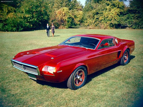 """Ford Mustang Mach 1 Concept Car Poster Print on 10 mil Archival Satin Paper 16"""" x 12"""""""""""
