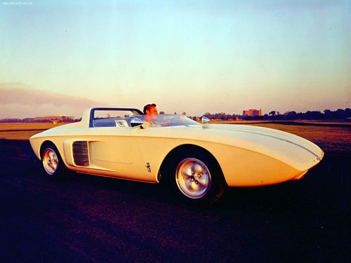 """Ford Mustang Roadster Concept Car Poster Print on 10 mil Archival Satin Paper 16"""" x 12"""""""""""