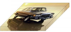 """Mercedes-Benz S Class 116 Series Archival Canvas Car Print (Mounted) 16"""" x 12"""""""