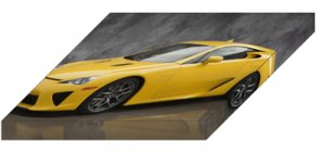 "Lexus LFA (2012) Car Archival Canvas Print (Mounted) 16"" x 12"""