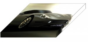 "Lightning GT Concept Car Archival Canvas Print (Mounted) 16"" x 12"""