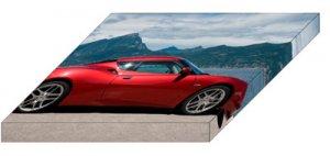 "Lotus Evora 2011 Archival Canvas Car Print (Mounted) 16"" x 12"""