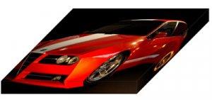 """Racer X Design Alfa-Romeo GTV Evoluzione Concept Archival Canvas Car Print (Mounted) 16"""" x 12"""""""