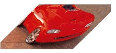 """Mazda Miata Mono-Posto Concept Archival Canvas Car Print (Mounted) 16"""" x 12"""""""