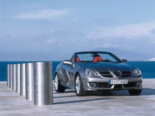 "Mercedes-Benz SLK Car Poster Print on 10 mil Archival Satin Paper 20"" x 15"""